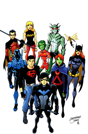 Nightwing x Reader : Young Justice! Meeting p  1 by
