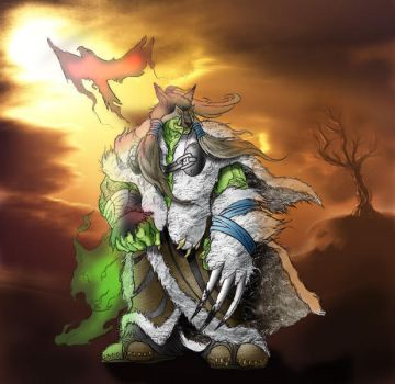 Colorized: Shaman by anapaest