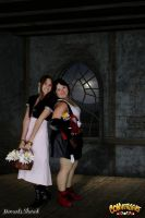Aerith and Tifa in the Church by Moonie-Dreamer