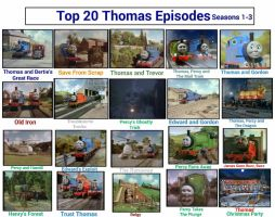 Top 20 Thomas Episodes Seasons 1 - 3 by JQroxks21