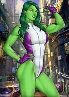She Hulk Sale On E Bay Now  By Carlosbragaart80 by DrunkenShinigami