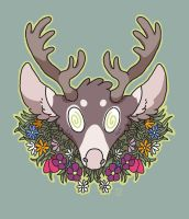 Deer head by ccartstuff