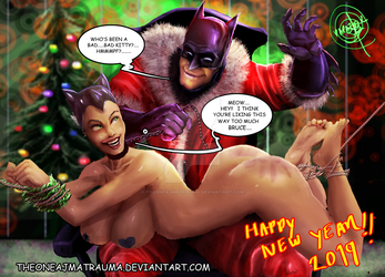batman and catwoman happy new year by THEONEAJMATRAUMA
