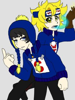 Super Craig and Wonder Tweek by ScarletTheFoxArtist