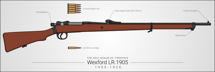 Wexford LR.1905 Bolt-Action Rifle by graphicamilitare