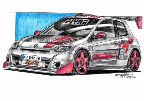 Renault Clio RS 3 Sport modified drawing. by YavuzSelim07