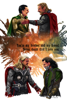 Thor and Loki by siquia