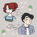 Felines Florals and Frapicinos, Aster and Kade by Taki-chanEDM