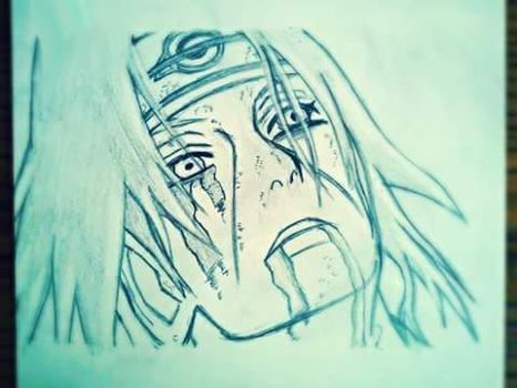 Old drawing of Itachi Uchiha by InvisibleIS