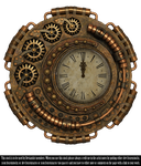 RESTRICTED - Steampunk Clock Render by frozenstocks