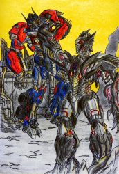Cover Special #7 Optimus vs The Fallen by GUILLERMOTFMASTER