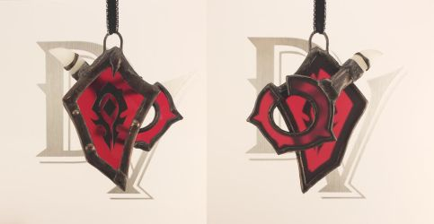 Stained Glass Horde Ornament by DarkeVitrum