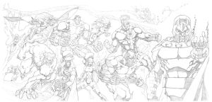 Jim Lee Homage X-Men #1 Commission by mikebowden