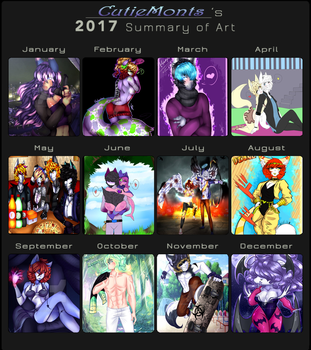 2017 Summary of Art by CutieMonts