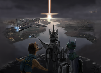 [Commission] Fallout Equestria: Project Orion by turbopower1000
