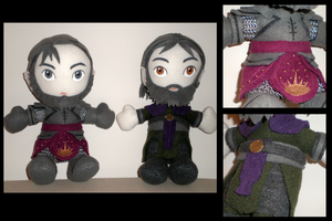 Irving-Gregoir custom plushies by eitanya