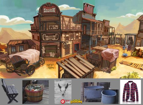 Wild West map concept -1 by AnDary