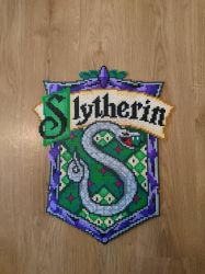 Slytherin emblem/shield from Harry Potter by MagicPearls