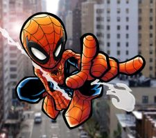 Chibi Spidey Coloured by TruZe
