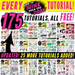 175 How to THINK when you DRAW tutorials FREE! by STUDIOBLINKTWICE