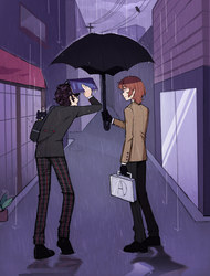 forgot his umbrella by remmie19