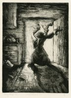The Doctor is In-Aquatint by matthias-corvidae