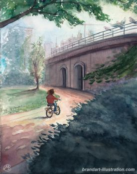 Girl On Bike 2 by embrand78
