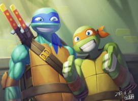 leo and mikey by lingdingyi