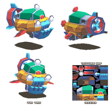 Lowpoly Sub by KennethFejer