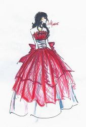 Marie Dress Sketch by IndiMage