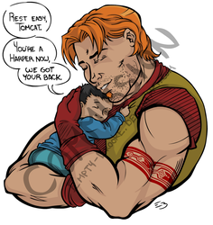 Commish - Roy and Tommy Hug [Jude Deluca] by Empty-Brooke