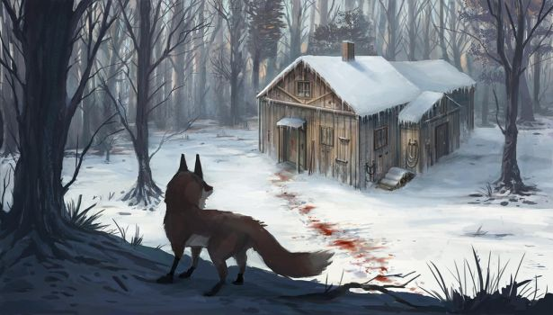 Blood in the snow by GremlinCat