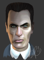HL2 - Gman Digital Paint - by SuperKusoKao