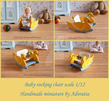 Baby rocking chair 1/12 scale by Adoratia
