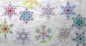 #HolidayCardProject2014: Snowflakes by strwalker