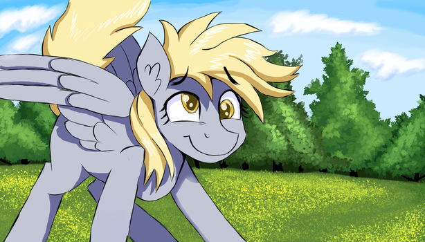 Derpy Landing by Signal15