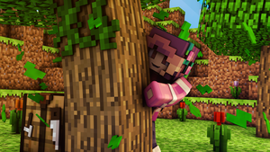 Minecraft Girl Wallpaper (Edited) by TalkDaveyToMe