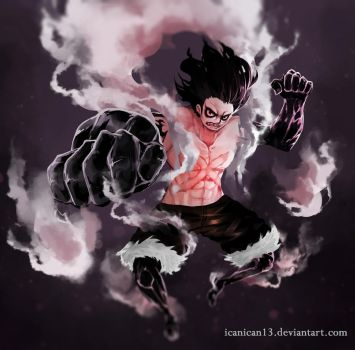 Luffy Gear 4th : Snakeman by icanican13