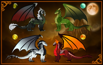 CLOSED Halloween TLoS Dragon Adopts by Shaiger