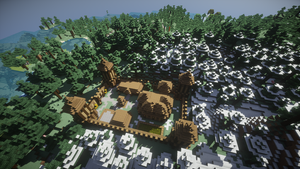 Minecraft small wooden castle by apromede