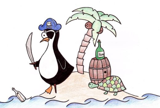 Mr. Penguin as a pirate 3 by Lucieff