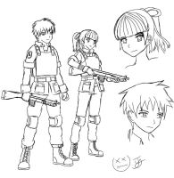 Concept Sketch - Officer Winter and Takahashi by x-Beatrush-x