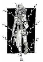 #3 ~ The Exiled Elf ~ | Inktober 2017 by Ayotamine