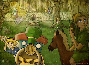 Loz- young Links in forest by CherryIsland
