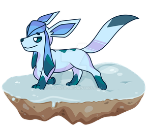Glaceon in the Snow by Catbreon