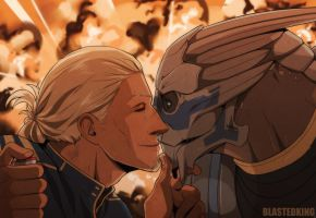 dd1109 Dylan Shepard and Garrus by BlastedKing