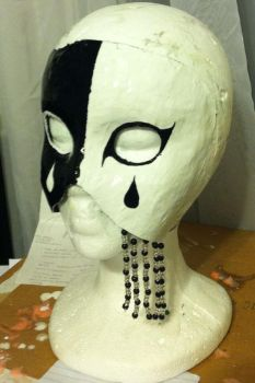 Black and White Masquerade Mask WIP by TearsOfFallenAngels
