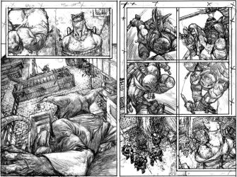 TMNT Page 2 and 3 Pencils by Spacefriend-KRUNK