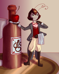 Pippin the tiniest butler by Flame-Bloom