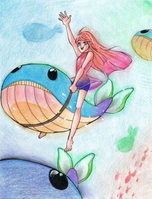 Deep Sea Whale Express by thelifeofabinder